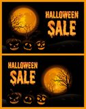 Halloween Sale Poster Vector Illustration Royalty Free Stock Photography