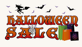 Halloween sale shopping banner Royalty Free Stock Photo