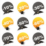 Halloween sale stickers Stock Image
