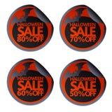 Halloween sale stickers with bat 50,60,70,80 vector. Halloween sale stickers with bat 50,60,70,80.Vector illustration card vector illustration
