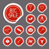 Halloween Sale Stickers Royalty Free Stock Photos
