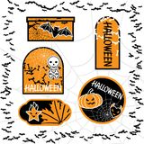 Halloween sale tags isolated. Vector bubbles for Stock Images