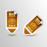 Halloween Sale Tags Set sticker Stock Images