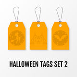 Halloween sale tags set vector isolated templates. Stock Images