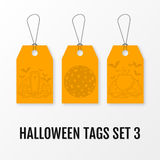 Halloween sale tags set vector isolated templates. Stock Photo