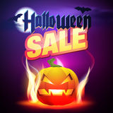 Halloween Sale Vector. Royalty Free Stock Images