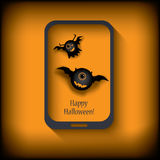Halloween sales invitation in smartphone with Royalty Free Stock Image