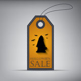 Halloween sales tag eps10 vector illustration. Royalty Free Stock Photography