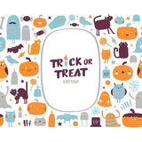 Halloween-Sammlung Stockbild