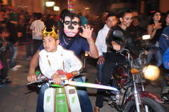 Halloween in San Agustin - Colombia Royalty Free Stock Images