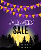 Halloween Sate Poster Background Template. Vector illustration Royalty Free Stock Images