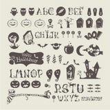Halloween-Satz Stockfoto