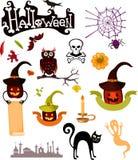 Halloween-Satz Lizenzfreies Stockfoto