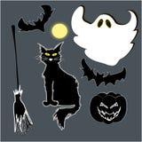 Halloween-Satz Gegenstände Lizenzfreie Stockbilder