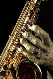 Halloween Saxophone Monster Hand Stock Photos