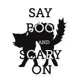 Halloween, say boo and scary on Stock Images
