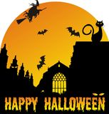 Halloween-scène Stock Foto's