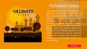 Halloween-Scène Conceptuele Banner Royalty-vrije Stock Foto