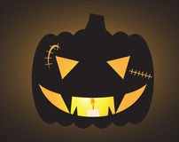 Halloween Scar O Lantern. A spooky Jack O Lantern design silhouette Royalty Free Stock Photography
