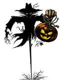 Halloween Scarecrow. Halloween Symbol - Scare crow with Jack' O' Lantern Stock Images