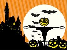 Halloween_Scarecrow Immagini Stock