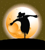 halloween scarecrow vektor illustrationer