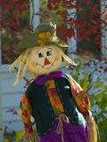 Halloween scarecrow. A funny scarecrow in Halloween Royalty Free Stock Photo