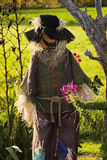 Halloween scarecrow. With eyes hidden under hat Royalty Free Stock Images