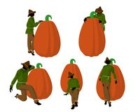 Halloween Scarecrow Art Illustration Royalty Free Stock Images