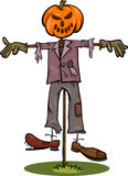 Halloween scarecrow cartoon illustration Stock Photo