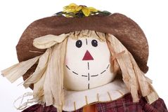 Halloween Scarecrow Decoration Closeup Stock Photo