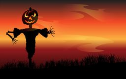 Halloween scarecrow royalty free illustration