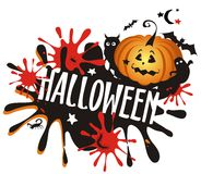 Halloween scary background. Royalty Free Stock Photo