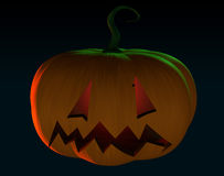 Halloween scary cartoon pumpkin trick or treat in black backgrou Royalty Free Stock Photography