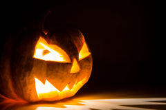 Halloween scary face pumpkin Royalty Free Stock Images