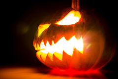 Halloween scary face pumpkin Royalty Free Stock Image