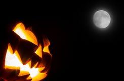Halloween scary face pumpkin Stock Photo