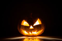 Halloween scary face pumpkin Royalty Free Stock Photo