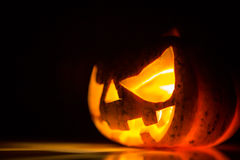 Halloween scary face pumpkin Royalty Free Stock Photography