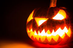 Halloween scary face pumpkin Stock Images