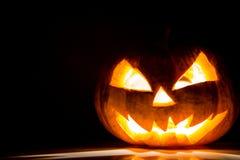 Halloween scary face pumpkin Stock Image