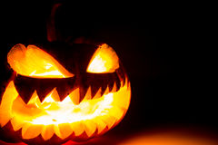 Halloween scary face pumpkin Stock Photo