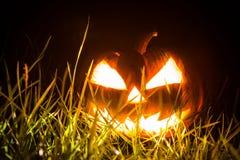Halloween scary face pumpkin Stock Photos