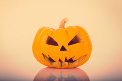 Halloween scary face pumpkin ( Filtered image processed vintage Stock Images