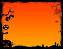 Halloween frame. Halloween scary frame.Night background.Halloween party Royalty Free Stock Image