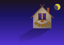 Halloween scary house Royalty Free Stock Photo