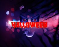 Halloween scary illustration face blue abstract dar royalty free stock photography