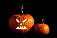 Halloween scary jack'o'lantern Stock Photography