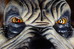 Halloween. Scary Monster with piecing eyes stock images