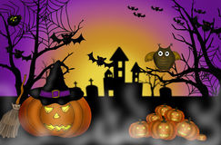 Halloween scary night background Stock Photography